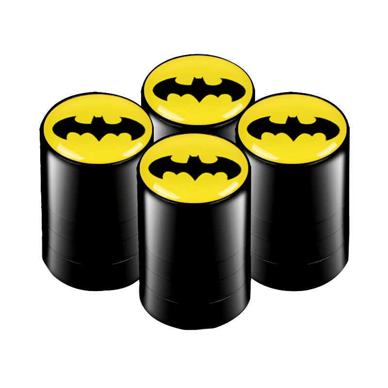 4 sztuk Batman godło koło samochodowe opona macierzystych nakrętki zaworu powietrza kurz nakrętka zaworu obejmuje pasuje do BMW AUDI ford mazda skoda toyota lada