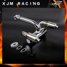 Double row muffler exhaust pipe for 1/5 hpi baja rv km parts
