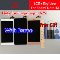 For Xiaomi Redmi Note 4X Screen With Frame Redmi Note 4 Global Version Lcd Display Touch