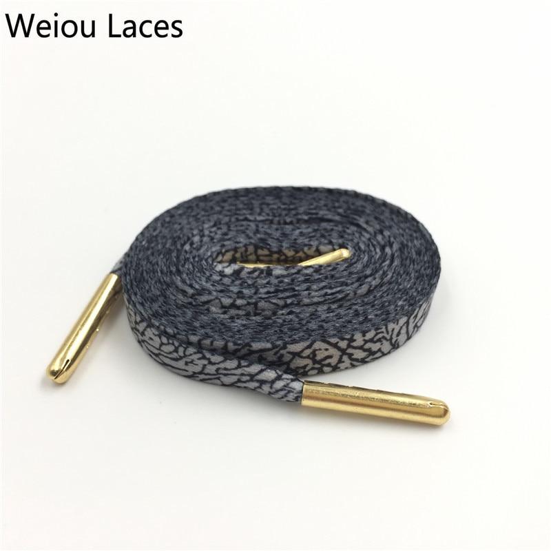 Weiou Popular Elephant Printed Shoelaces Plain Flat Burst Lines Shoe Lace Monolayer Sublimated Ribbons Decor Boot Laces Strings