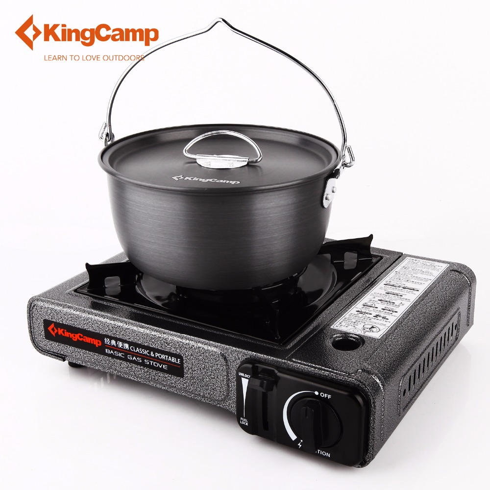 KingCamp Camping Stove Portable Outdoor Gas Stove Camping Hiking Picnic Gas Stoves for Trekking Camping Equipment point break outdoor camping cookware portable picnic stoves gas stove oven split type cs g18