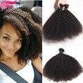 7а бразильский афро кудрявый вьющиеся волосы короткие человеческие волосы соткать 3 шт./лот странный вьющиеся необработанные девы волос afro kinky вьющиеся