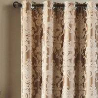 NewEuropean Jacquard Window Curtains Luxury Fabric High Quality GIGIZAZA Light Shading Blinds For Livingroom Floral Ivory
