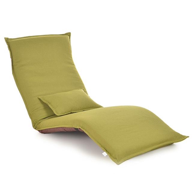 Japonés Silla Chaise Lounge Muebles de La Sala de Estar Piso Perezoso Tumbona Ajustable Plegable Plegable Tapizado Sofá Cama
