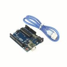 Free shipping UNO R3 For arduino MEGA328P 100% original ATMEGA16U2 with USB Cable(China (Mainland))