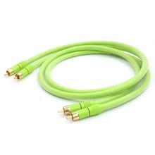 Высокое качество 6N 99.9999% OFC Male-Male Соединительный кабель RCA с позолоченным штекером RCA для система Hi-Fi