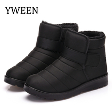 купить YWEEN Factory Price Fashion Men Boots High Quality Anti-Slip Ankle Snow Boots Shoes Men Warm Fur Plush Hook & Loop Winter Shoes в интернет-магазине