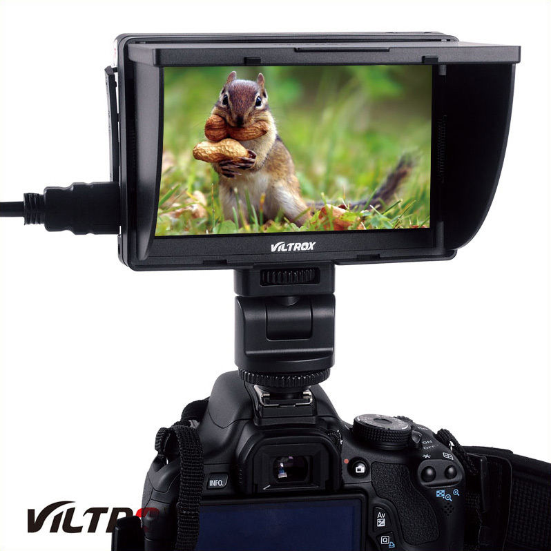Viltrox 5'' DC-50 Clip-on Color TFT LCD Monitor HDMI AV Input for Canon Sony Nikon DSLR Camera