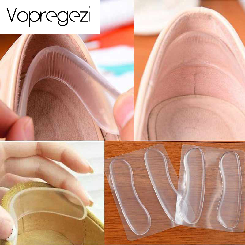 Vopregezi 3pair Silicone Insoles Orthopedic Mat for Heels Anti-Slip Gel Pad for Foot Care Heel Support Protector Cushion Pads
