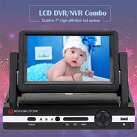 Hiseeu Home Security System Digital Video Recorder For CCTV 4 Channel 8CH 960N LCD Screen Hybrid