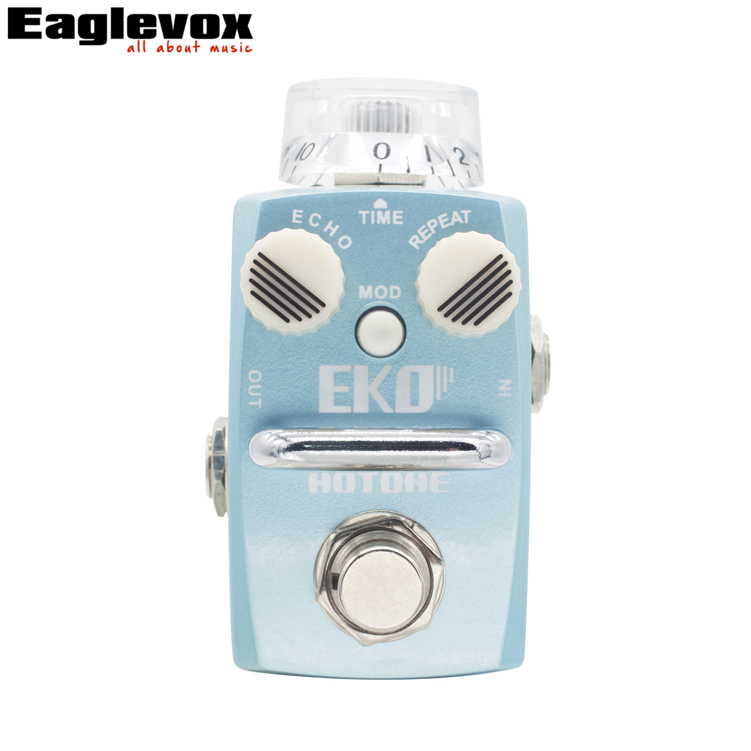 Hotone EKO Digital Delay Echo Guitar Effect Pedal True Bypass Electric Guitar Bass EKO Hotone Pure warm natural echo aroma adl 1 true bypass delay electric guitar effect pedal high quality aluminum alloy guitar accessories delay range 50 400ms