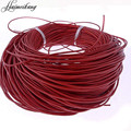 Awaytr 10m/Lot 2mm Colored Leather Rope Waxed Macrame Rattaill Thread Cord Shamballa Bracelet Necklace Jewelry Making