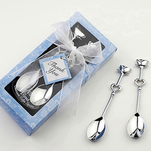 200pcs spoons /lot=100sets/lot  'the perfect blend'  coffee spoon in blue gift box Love Heart Spoons Party Favors Free shipping