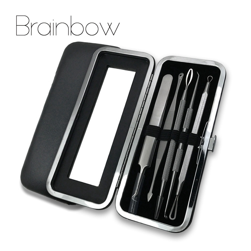 Brainbow 5pc/Bag Blackhead Tweezers Spot Cleaner Blackhead&Blemish Removers Pimples Extractor Acne Treatment Facial Pore Cleaner the yeon pore blemish bb page 3