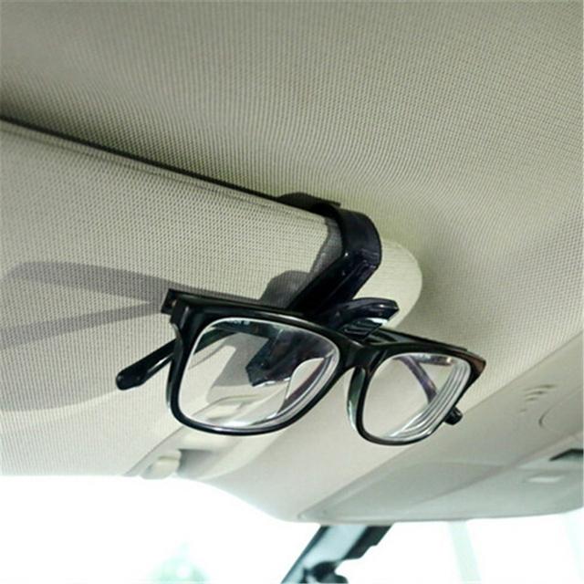 Car-Styling Creative Organizer Auto Fastener Clip ABS Car Sunshade Storage Visor Sunglasses Card Ticket Portable Clip Holder