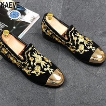2016 New Men Loafer Causal Slip On Flats Floral Driving Embroidery Creepers Sapatos Masculinos Zapatos Tenis Masculino