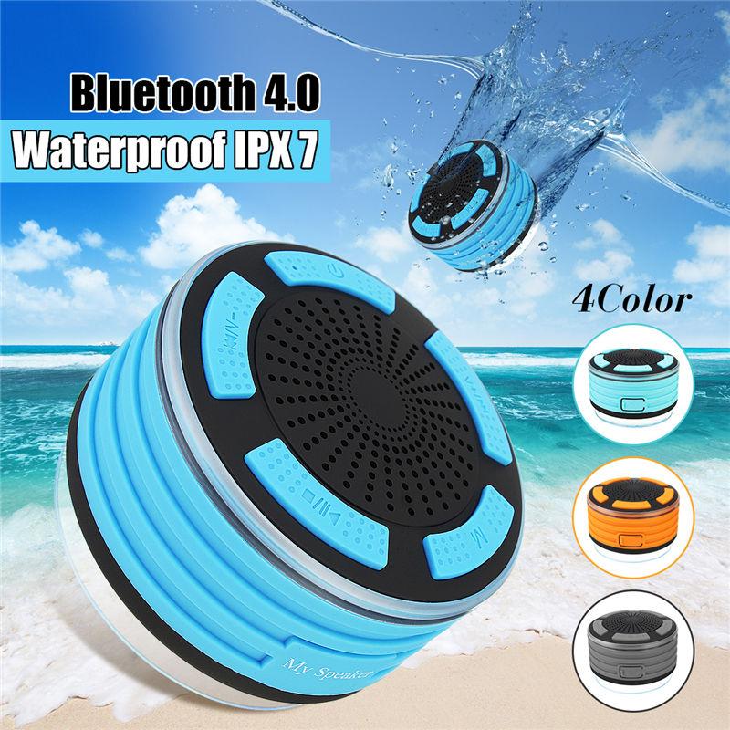 Mini waterproof bluetooth speaker floating bluetooth wireless speaker shower speaker with led for Waterproof speakers for swimming pools