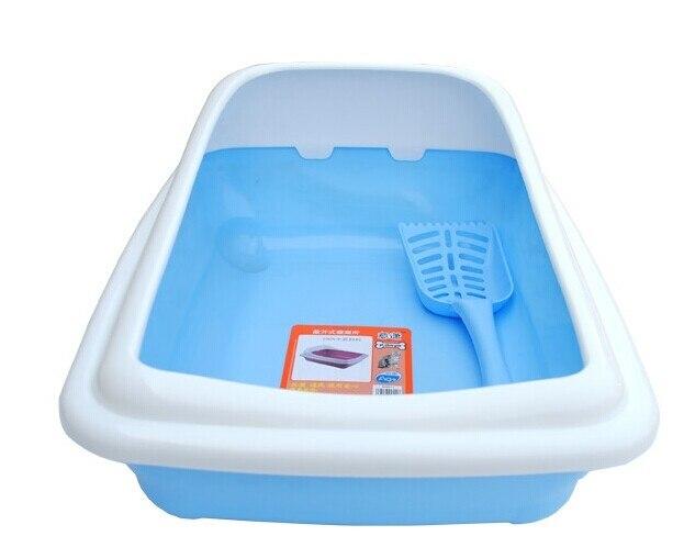 Полузакрытый бассейна кошачьих туалетов домашних животных кошачий Туалет Размеры: 47*32*240 см