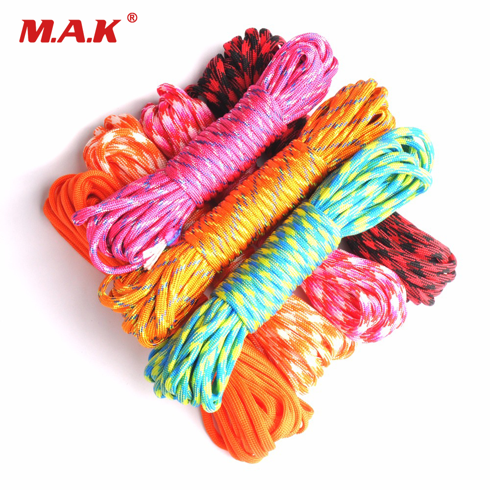 Outdoor Climbing Paracord 550 Parachute Cord Lanyard Rope Mil Spec Type III 7 Strand 100FT Climbing Camping Survival Equipment iqiuhike multifunction parachute 550 popular type iii 7 strand paracord cord lanyard mil spec core 100ft camping survival tool