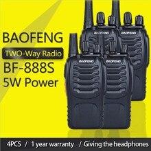 4個baofeng BF 888Sトランシーバー888 uhf 5ワット400 470mhz BF888s bf 888s 2ウェイラジオ