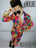 S XL Free shipping !!! NEW Korean bigbang rights Zhi Long GD crayon the same paragraph multicolored suit Jacket men