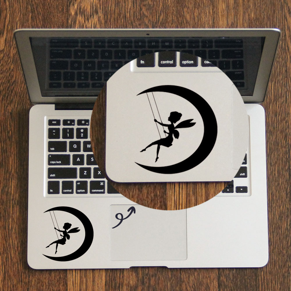 Fairy Swing Moon Quote Laptop Trackpad Sticker for font b Apple b font font b Macbook