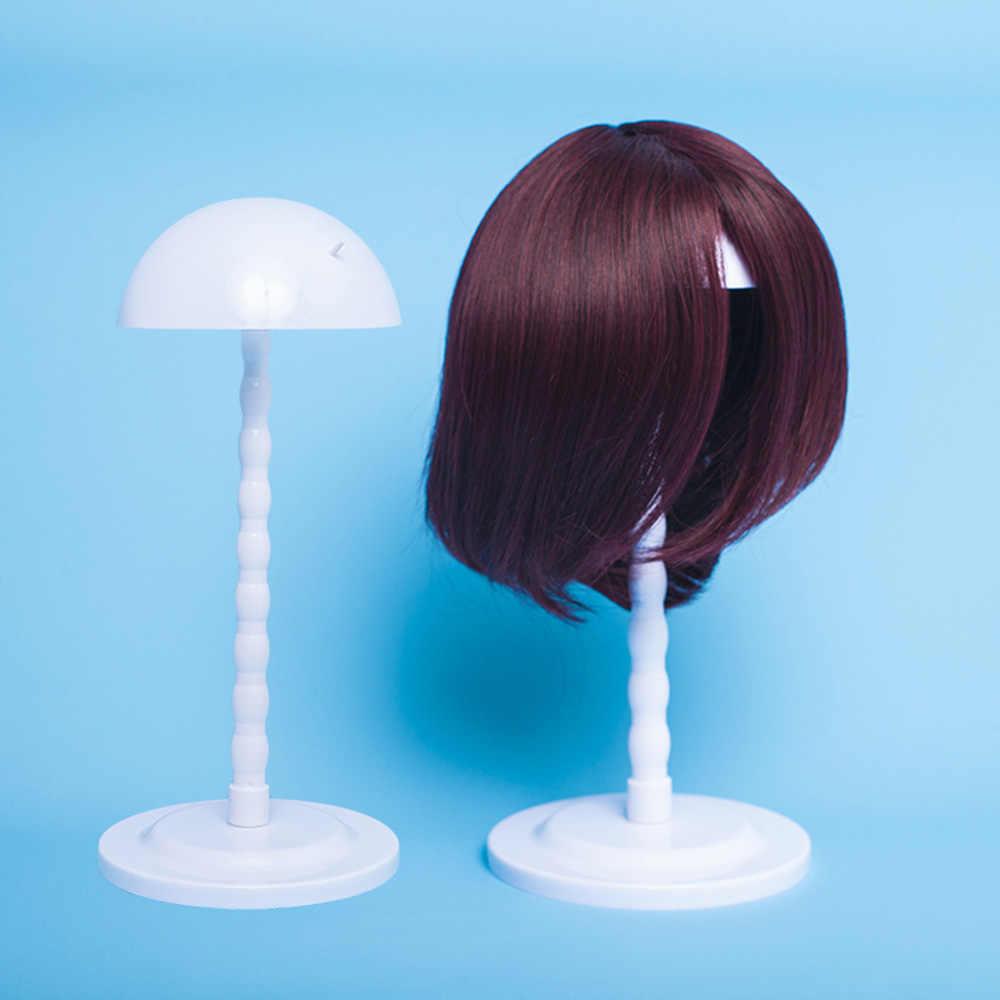 Красочный парик стенд Многоцелевой использовать парик шляпа волосы голова стенд путешествия дружественные Пластиковые подставка для парика манекен голова/стенд 1 шт./партия