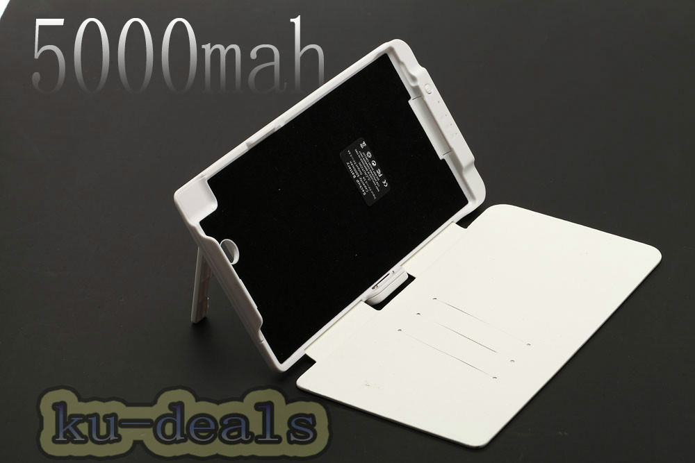 5000mAh Leather Flip Cover Outer Power Bank battery case stand Sony Xperia Z Ultra C6806 C6802 XL39h - Ku Deals's store