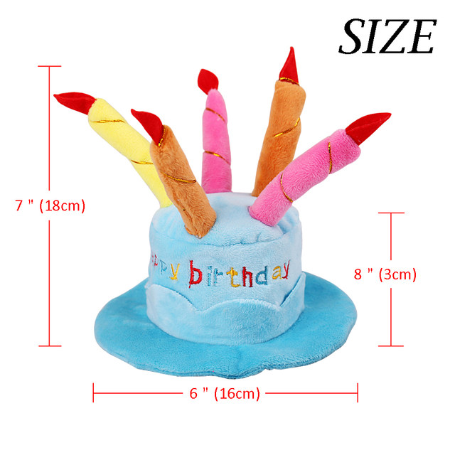 Dog Birthday Hat Party Cap Dogs Cake Candles Costume Accessory For Small Medium Pets Puppy