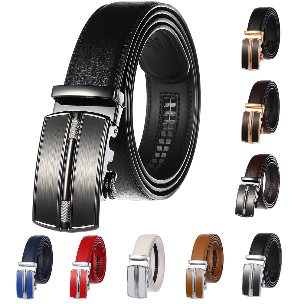 Top Brand Blets for Men Automatic Buckle Genuine Leather Strap Designer Belts Male Blet for Jeans Black Brown White Red Blue