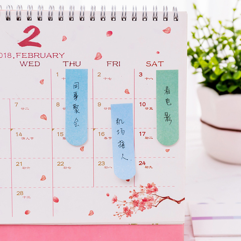 2 PCS New DIY Color Gradient Office Novelty Sticky Notes Planner Stickers Page Index Post Office School Supplies Stationery Multan