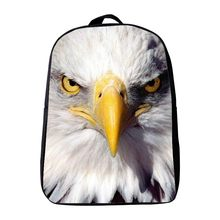 2017 New Arrivlas 12 Inches Polyester Printing Animal Eagle Kids Baby School Bags for Kindergarten Infantile Schoolbag Backpack(China)