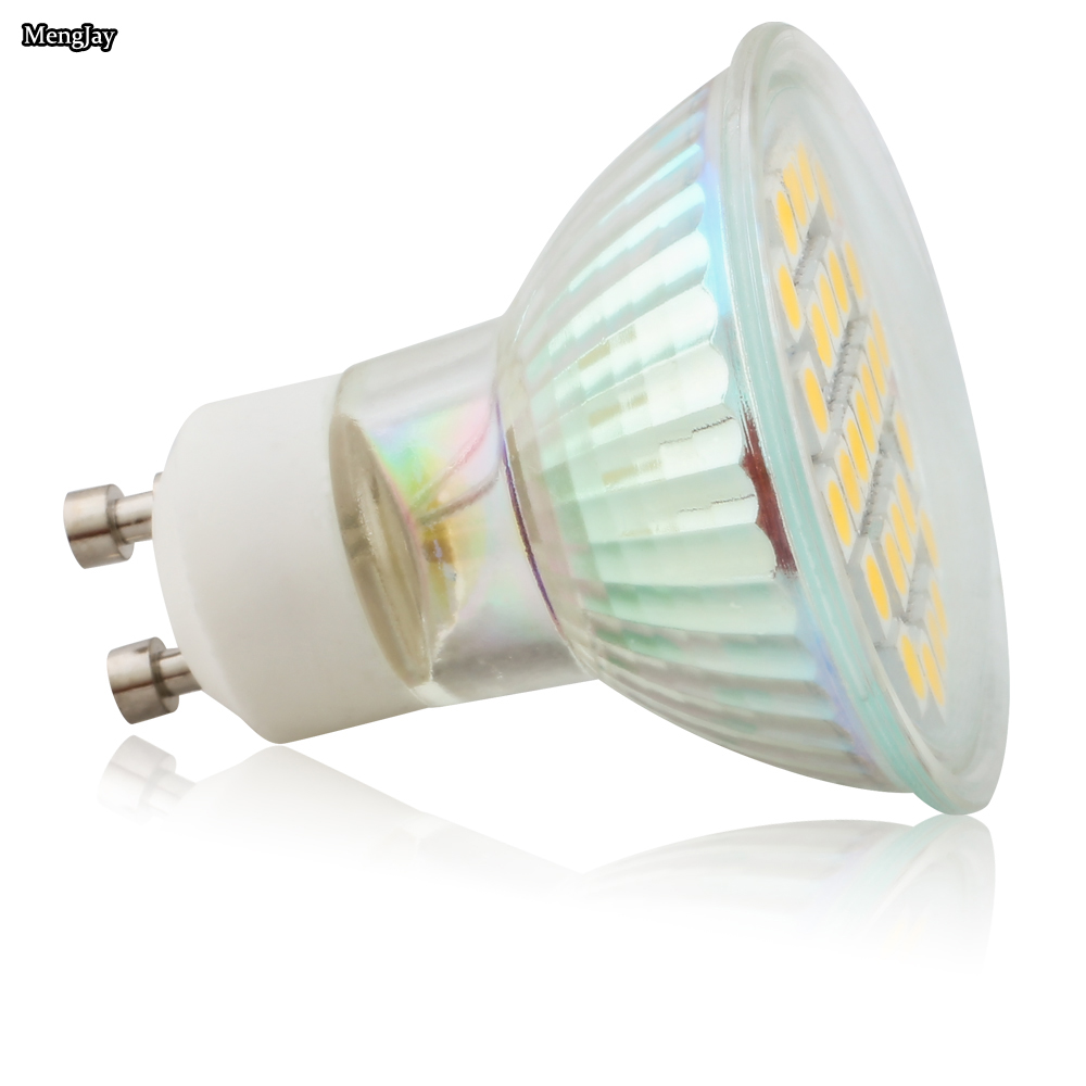 20X GU10 3,5 Вт 27 шт. 5050 SMD светодиодные лампы точечной подсветки AC220V 240V теплый белый/холодный белый Светодиодные лампы для дома лампада Светодиодная лампа - 5
