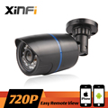 XINFI 2016 New HD 720P CCTV IP camera 1.0MP night vision Outdoor Waterproof network camera ONVIF Remote view With 12V Power gift