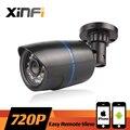 XINFI 2016 Nuevo HD 720 P CCTV IP 1.0MP cámara de visión nocturna Impermeable al aire libre cámara de red ONVIF vista Remota Con 12 V de Potencia regalo