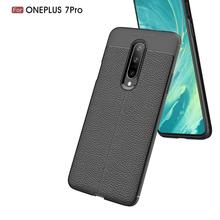 OnePlus 7 pro Case Soft Silicone Case TPU Cover Carbon Fiber Case For OnePlus 7 pro OnePlus 7 6T Phone Case Fundas Back Cover