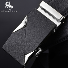 JIFANPAUL belt mens leather black automatic buckle gold decoration men personality fashion top youth jeans corset