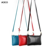 AOEO Genuine Leather Bags For Women Clutch Candy Color Girls Shoulder Bag Female Handbag Brand Luxury Lady Crossbody Bag недорго, оригинальная цена