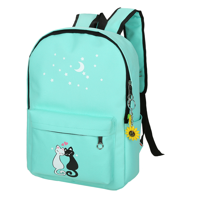Cat Lovers Cute School Backpack Set