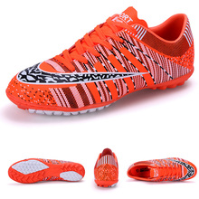 ФОТО toursh boys kids indoor soccer shoes men rubber sole football boots plus size 33-45 sports athletic training shoes crampons foot