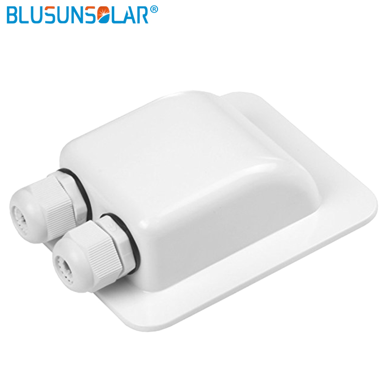 Waterproof UV-resistant ABS Solar Double Entry For Cable Wire 6mm To 12mm For RV Roof  Boat