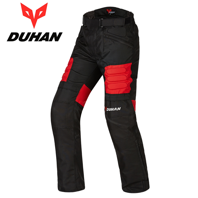 DUHAN male Windproof MOTO Pants Motorcycle Mountain Cycling Trousers Straight Pants Mens Motorcycle Long Pants Hip Protector