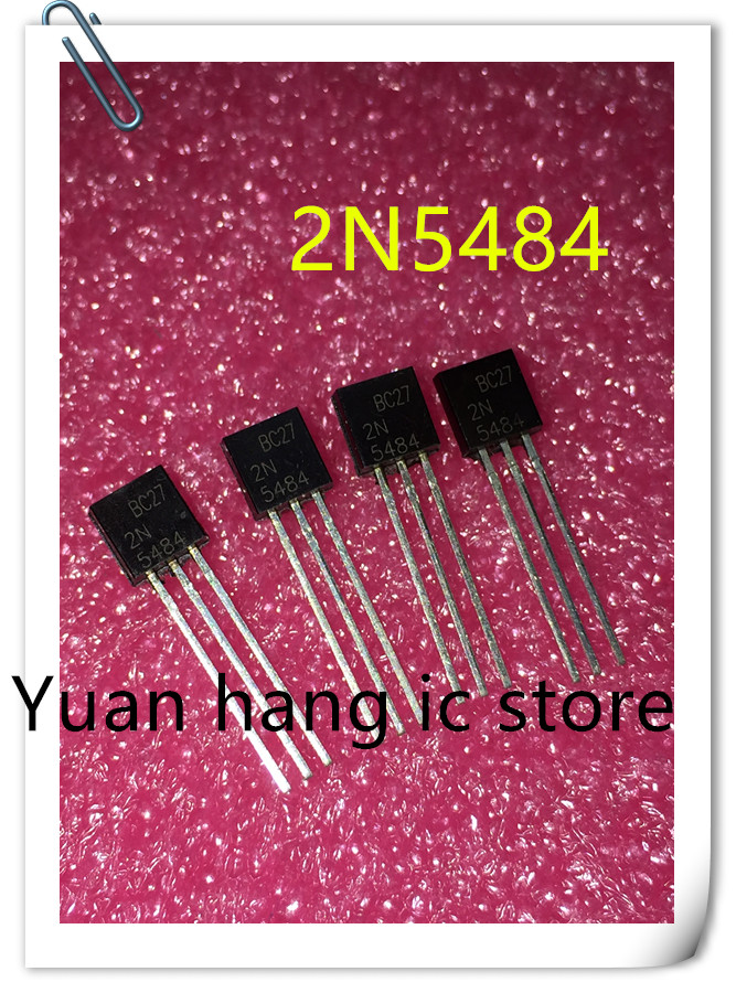 Free Shipping 10pcs/lot ELectronic 2N5484 IC AMP RF N-CHAN 25V 10MA TO-92