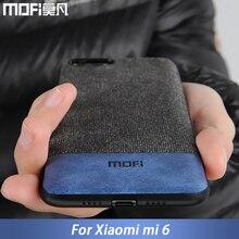 Xiaomi mi6 케이스 커버 mi 6 뒷면 커버 실리콘 에지 남성 비즈니스 패브릭 충격 방지 케이스 coque MOFi original mi 6 case