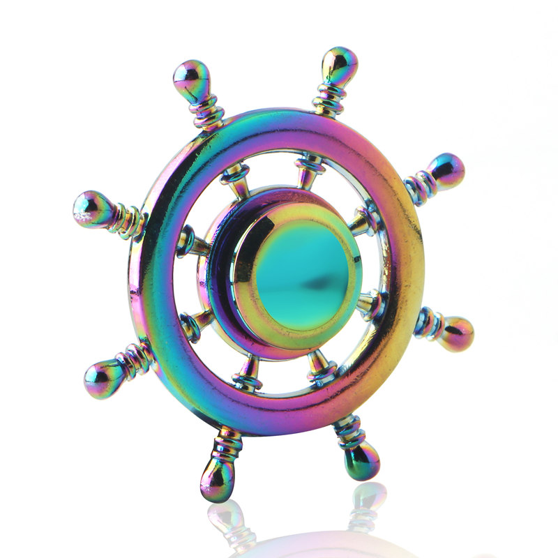 Anise Rudder Colorful Fidget Spinner EDC Hand Spinners Autism ADHD Kids Christmas Gifts Metal Finger Toys Spinners