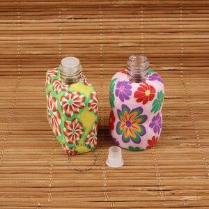 Image 3 - 35 قطعة/الوحدة بالجملة 10 مللي 15 مللي زجاجة عطر لينة الطين رائحة الضروري النفط زجاجة النساء التجميل الحاويات قلادة سيارة