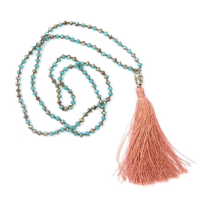 Boho Buddhism Style Tassel Necklace