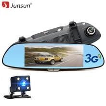 "Junsun 3G 7 ""Cámara del coche DVR GPS Bluetooth Grabadora de Doble Lente de Espejo Retrovisor de Vídeo FHD 1080 P de Automóviles Espejo DVR Dash cam"