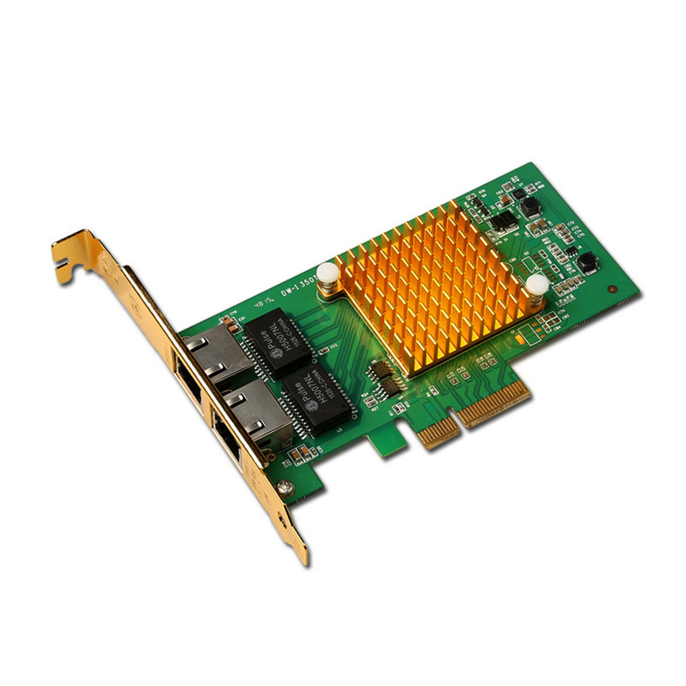I350 - T2 Network Card PCI - E 2 Ports Gigabit Ethernet Server Nic Original InteI350T2 Chip 2 ports rs485 422 pci card optical isolation surge protection 1053 chip
