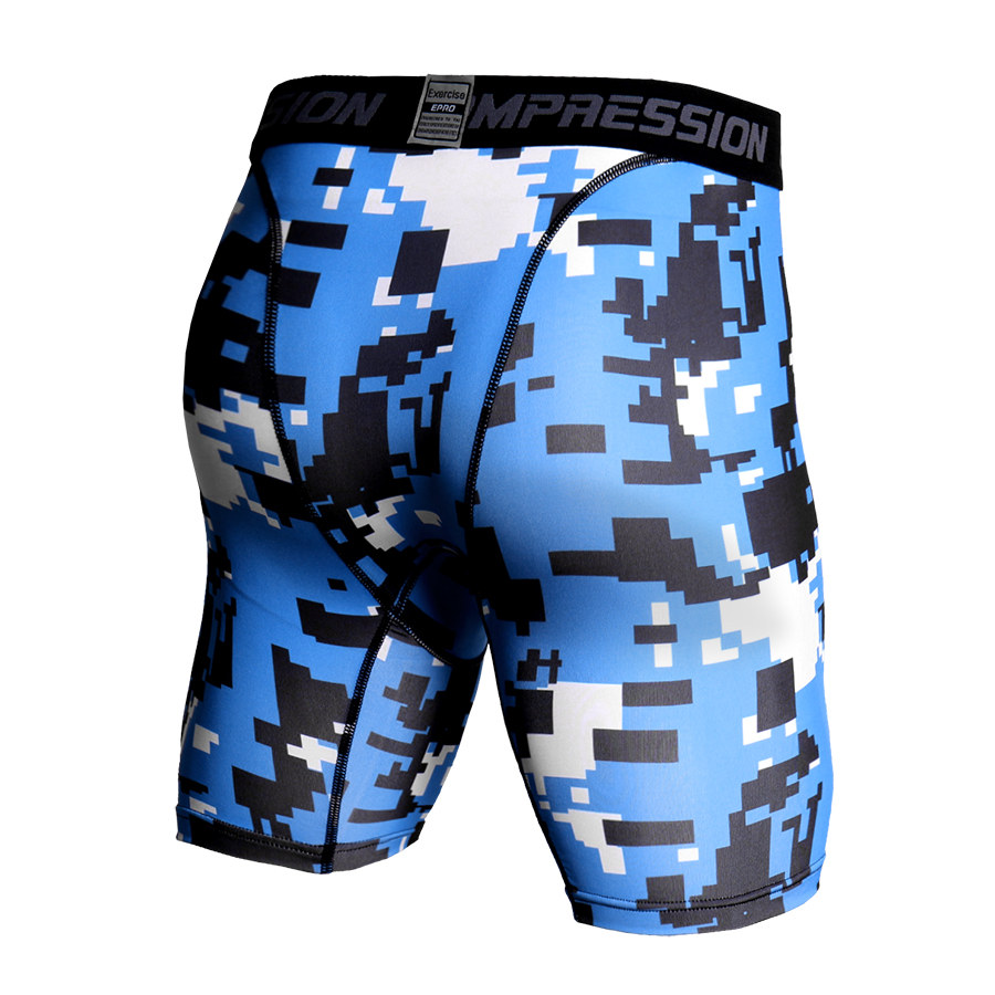 Camouflage Compression Shorts Men Running Tight Bodybuilding Fitness Men Shorts Summer Sports Jogger Trousers Camo Workout